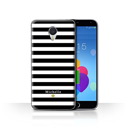 Stuff4 Phone Case/Cover/Skin/mzum3 N/Custom Stripes/Striped Collection Étoile Rayure Noir