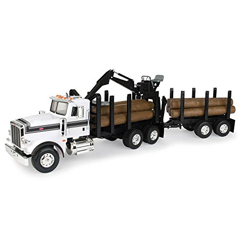ERTL Big Farm Logging Truck with Pup Trailer & Logs - http://coolthings.us