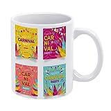 Mug-Carnival Party Instagram Post Set Taza de café, 325 ml, m263