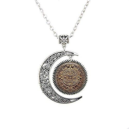 b2b Maya-Kalender – mexikanischer Kalender – Maya-Mond-Halskette – Aztekenkalender