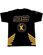 Camiseta Lorenzo 99 Moto GP Style 2019 con alas, color negro