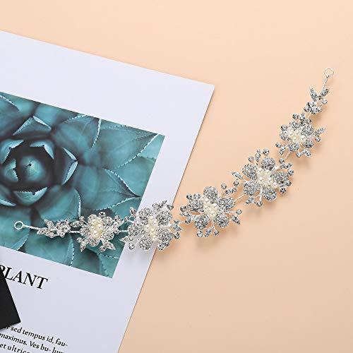 Tiara haarsieraad bruid hoofddeksel haarband vrouwenhoofd bloem spoel haar esthetische bruiloft eenvoudige bloemen exquise elegante jurk accessoires dagelijks feest zilverachtig