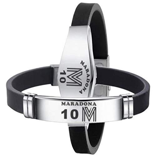 LPWCAWL Maradona Football Fan Jewellery, Hand of God Memorial Wristbands, Adjustable Sport Bracelet for Men and Women, 2PCS