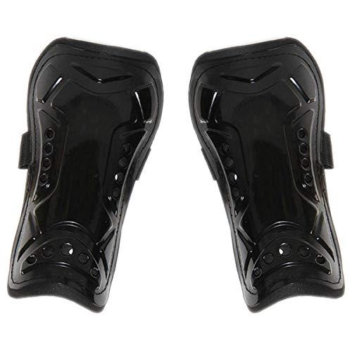N-A - Espinilleras de fútbol transpirable perforadas para adultos (negro)