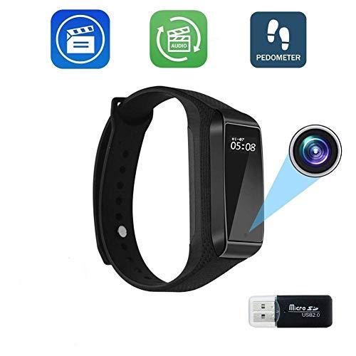 1080p Tragbarer Armbanduhr Kamera Spion-Kameras versteckte kleine drahtlose Video CameraSmart Armband Videorekorder Sportarmband Invisible LMMS