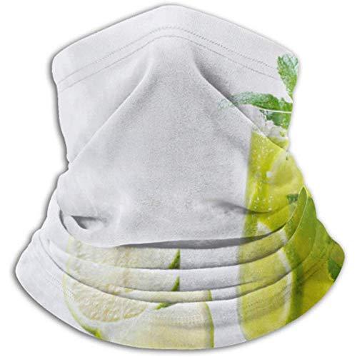 Faithe Keppel Halswärmer-Halsgamasche aus Mikrofaser, Ohrenwärmer-Stirnband und Gesichtsmaske. Matcha gefrorener grüner Tee-Kalk frisch