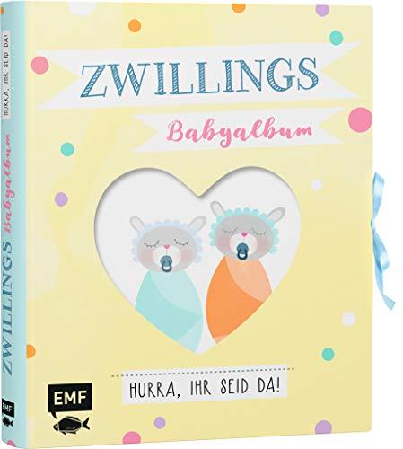 Zwillings-Babyalbum – Hurra, ihr seid da!: Mit vielen Extras zum Ausfüllen, Einkleben und Sammeln (inkl. Liederbüchlein, Girlande, Kuverts und ausklappbarer Seite)