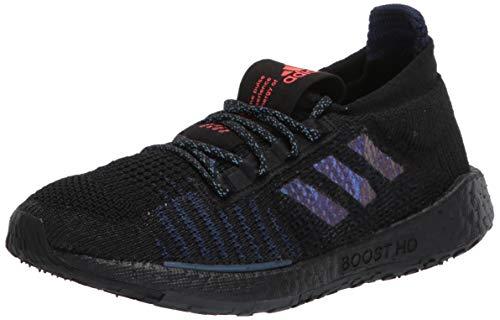 adidas Women's Pulseboost HD Running Shoe, Black/Boost Blue Violet Metallic/Dash Grey, 8.5 M US