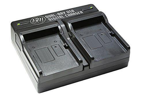 BM Premium BP-727 Dual Battery Charger for Canon HFR80, HFR82, HFR800, HFR70, HFR72, HFR700, HFM500, HFR30, HFR32, HFR300, HFR40, HFR42, HFR400, HFR50, HFR52, HFR500, HFR60, HFR62, HFR600 Camcorder