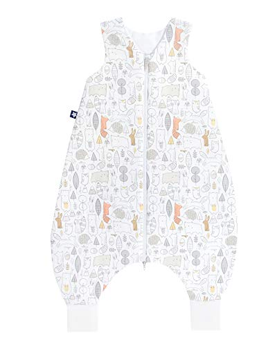 Julius Zöllner 9082769300 Jersey Jumper - Schlafsack mit Beinen - Forest Größe 92, weiß, weiß, 18-36 Monate/92 cm, weiß