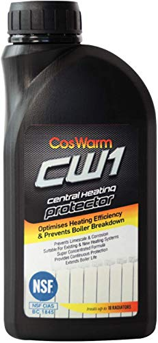 CosWarm CW1 Inhibidor de Calefacción Central & Protector | Trata Hasta 18 Radiadores | Previene la corrosión & cal en calderas, radiadores, sistemas de calefacción central | Protección contra el óxido