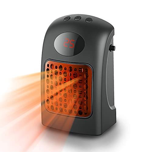 Heizlüfter, ANGGO Heizung Elektroheizung Enegiesparend Heizstrahler Mini Keramik Heizluefter mit Überhitzungsschutz 900W, 3 Heizstufen, schnelles Aufheizen für das Heimbüro