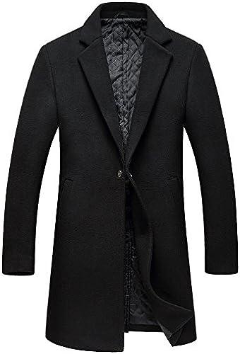 Fvbuhhi Manteau de Poil Hommes Hommes Hommes, Manteau de Poil Long Manteau de Poil,noir,m