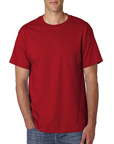 USA Hanes 5180T Adult Tall Beefy-T Deep Red XX-Large Tall