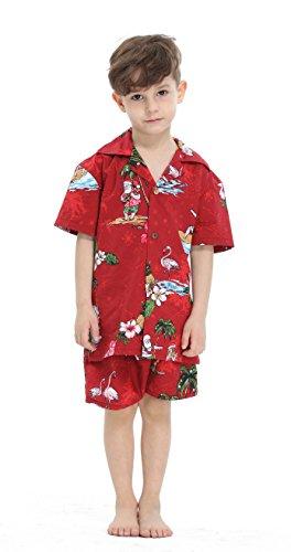 Hawaii Hangover Chico Joven Adulto Camisa de Aloha Luau Camisa de Navidad en Santa Roja 16 años