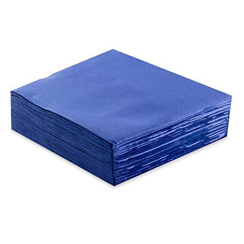 MORIGAMI Servilleta 40x40, 2 capas, pliegue 1/4, 50 servilletas, punta-punta, Azul (SER42104058)
