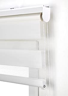 comprar comparacion Estor Noche y día Enrollable a Medida Basic Tejido Color Blanco Roto. Medida 180cm x 180cm para Ventanas y Puertas