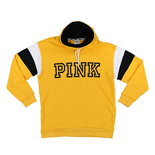 Victoria's Secret Pink Sweatshirt Sherpa Cowl Neck Pullover (S, Yellow)