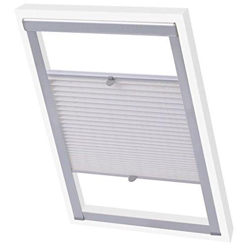 vidaXL Faltstore für Velux Plissee Faltrollo Faltstores Fensterrollo Jalousie Weiß 206