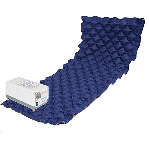 Anti-decubitus Air Mattress Bubble inflatable Alternating Pressure cushions with Adjustable Pump home care mat pad for Bedridden Elderly Or Patient Pressure Ulcer and Bed Sore Treatment