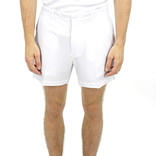 SAVALINO Sport Clothes Men's Tennis Shorts Material Wicks Sweat & Dries Fast S White