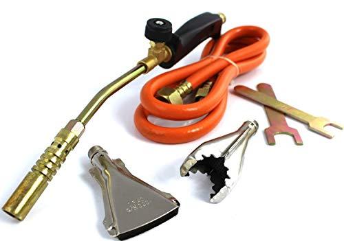 AJS LTD Propaan brander solderen, verbranding, verwarming, gebruikt voor dakwerken. Gasbranders worden gebruikt in installatiewerken, dakbedekking, verwijdering van olieverven en zelfs effectieve verwijdering van onkruid.