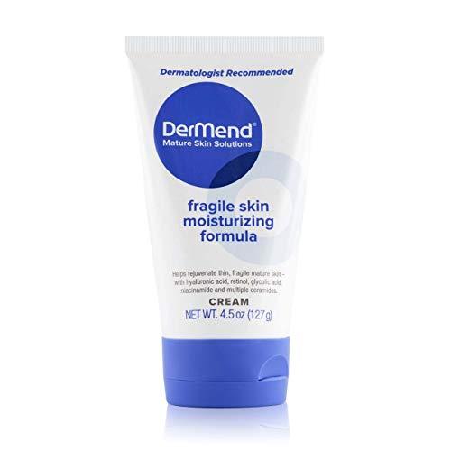 DerMend Specialized Fragile Skin Moisturizing Cream: Formula to Restore & Rejuvenate Mature Skin - Daily Moisturizer & Anti Wrinkle Cream for Firming & Strengthening Thin, Aging Skin - 4.5 Oz Tube