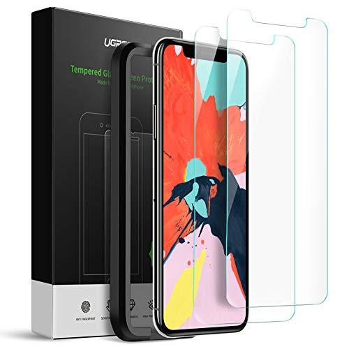 UGREEN 3D Protector de Pantalla iPhone 11 Pro/XS/X + Herramienta de Instalación + Kit de Limpieza, Alta Definición Screen Protector...