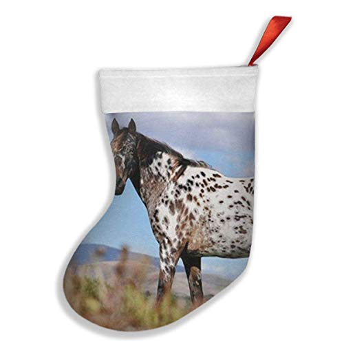 New Appaloosa Horse Meadow Art Print Xmas Christmas Stockings Xmas Party Mantel Decorations Ornaments for Decoration Kids Gift Holding Stocking Tree Ornament