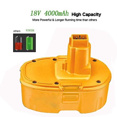Product Image 4: 4000mAh Replacement for Dewalt 18V Battery XRP DC9096 DC9099 DC9098 DW9099 DW9098 388683-12 651034-01 DE9039 DE9095 DE9096 DE9098 DW9096 DW9095 Batteries 2 Packs