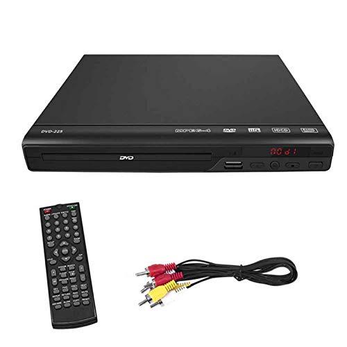 MOVKZACV Reproductor de DVD para TV, reproductor de CD/DVD con mando a distancia y cable AV, reproductor de CD HD 1080P (tamaño: UE)