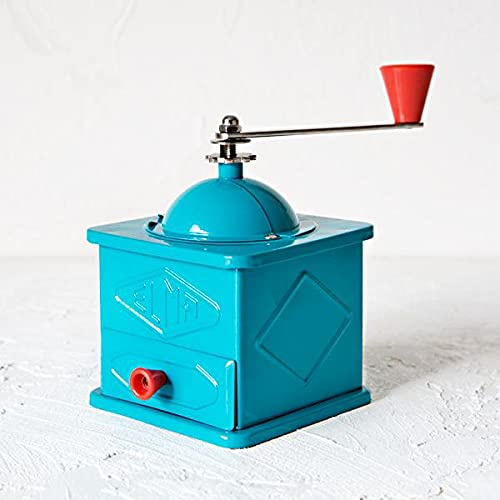 ELMA-Molinillo de chapa azul de uso decorativo , Molino de c