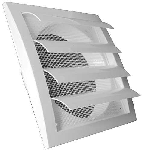 Exhaust Hood Vent with Built-in Pest Guard Screen, White, Air Vent Cover, HVAC Exhaust Vent Duct Cover, Exhaust Cap (6'' Inch, White)