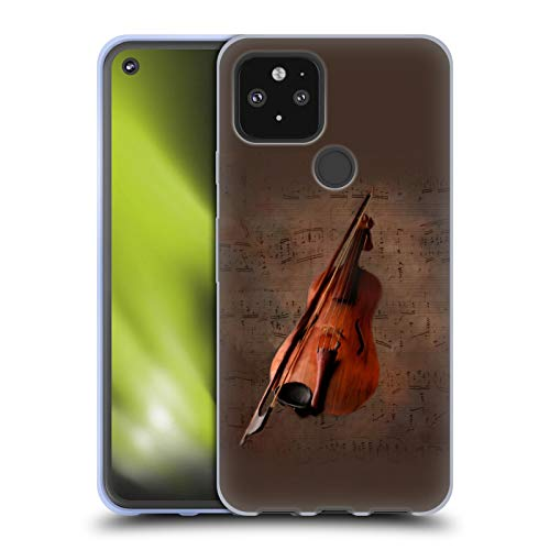 Head Case Designs Offizielle Simone Gatterwe Geige Vintage Und Steampunk Soft Gel Handyhülle Hülle Huelle kompatibel mit Google Pixel 5