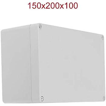 Caja de conexiones de plástico BE-TOOL IP65 ABS blanco resistente a la intemperie para exterior/exterior con conector, blanco: Amazon.es: Bricolaje y herramientas