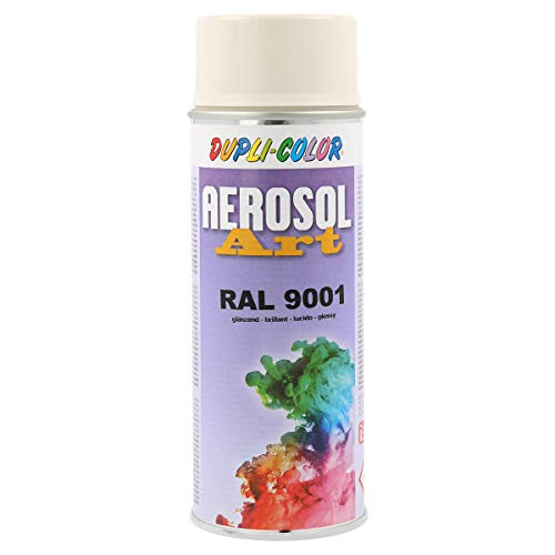 Duplicolor 722677 Spray Aérosol Art RAL 9 001, Brillant, 400 ml blanc creme