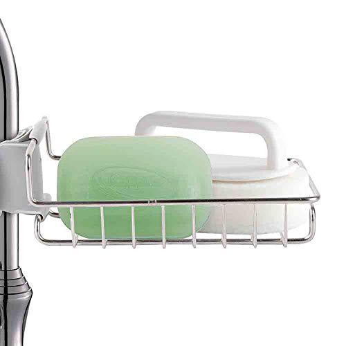 Spoelbak Caddy Organizer, Keukenkraan Sponge Houder, Drainer Caddy voor Vaatwasser, RVS Kraan Opslagruimte Rek Hangen, voor Keuken/Toilet