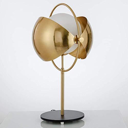 LLYU Diverse moderne gouden persoonlijkheid creatieve slaapkamer woonkamer study hotels omkeerbare halve cirkelvormige metalen glazen lampenkap tafellamp