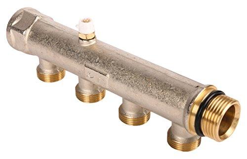 WIROFLEX® 26063 3, Kompaktverteiler für Sanitär-und Heizungsanlagen, Stammrohr 1 Zoll, 4 Fach Verteiler