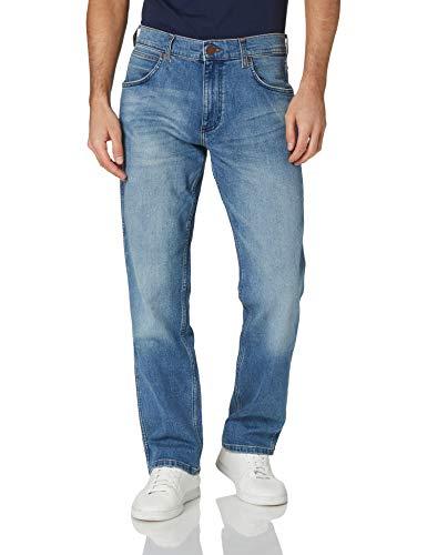 Wrangler Greensboro Jeans Vaqueros Straight, Azul (Blue Fever), 34W/30L para Hombre