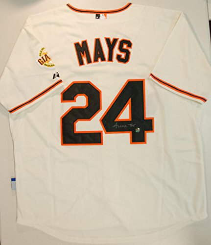 Willie Mays Autographed Jersey Authentic Mays Hologram