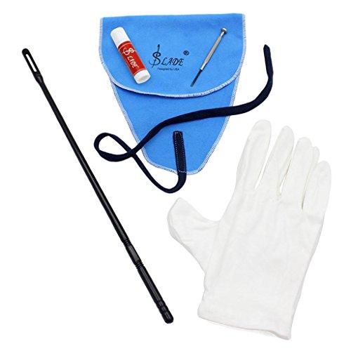 5-in-1 Reinigung Tool-Set für Flöte, inkl. Reinigungstuch+Stick + Fett + Schraubendreher + Handschuhe