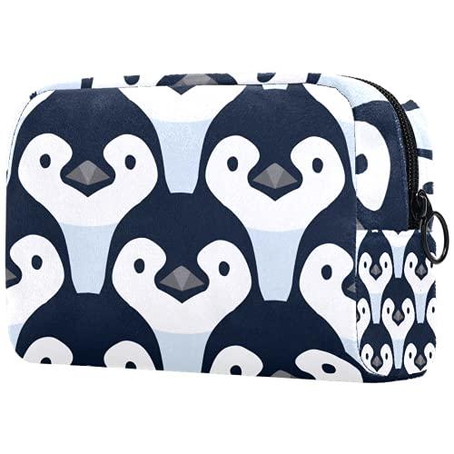 Neceser de Maquillaje para Mujer Bolso Organizador de Kit de Viaje cosmético,Bebé pingüino