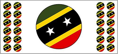 Saint Kitts Flagge, Banner – Poster – Party-Dekoration – Feier – Event – Weltmeisterschaft (2 Stück)