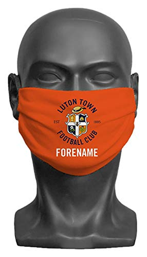 Luton Town FC Personalised Crest Adult Face Mask- Large