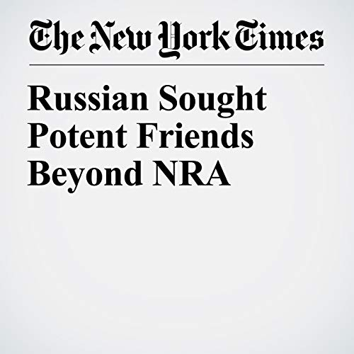 Russian Sought Potent Friends Beyond NRA audiobook cover art