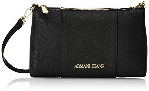 Armani Jeans922544CC857 - Borsa a tracolla Donna, Rosso (Rot (BURGUNDY-NERO-GRIGIO 07276)), 15x6x24 cm (B x H x T)