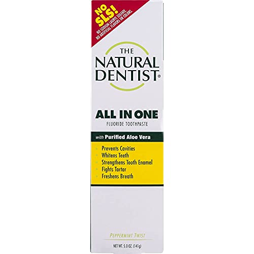 Natural Dentist All In One Fluoride Sulfate-Free Toothpaste with Aloe,...