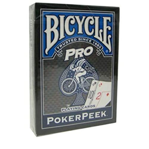 Mazzo BICYCLE Pro Poker Peek - Dorso Blu (US Playing Card Company)