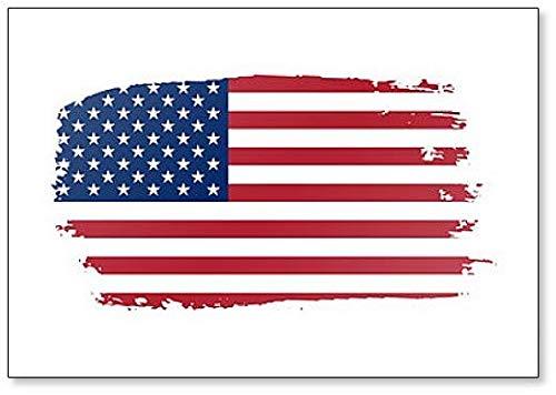Amerikaanse vlag. Grunge Old Flag USA Geïsoleerd Wit Achtergrond Koelkast Magneet